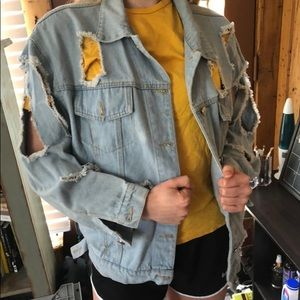 Distressed Jean Jacket!